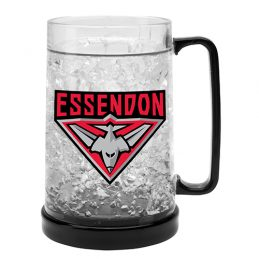 LARGE AFL Essendon Bombers Aussie Rules Freeze Beer Stein Frosty Mug Cup