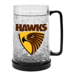 LARGE AFL Hawthorn Hawks Aussie Rules Freeze Beer Stein Frosty Mug Cup