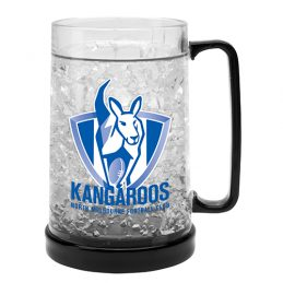 LARGE AFL North Melbourne Kangaroos Aussie Rules Freeze Beer Stein Frosty Mug Cup