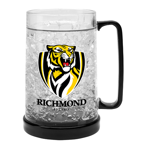 LARGE AFL Richmond Tigers Aussie Rules Freeze Beer Stein Frosty Mug Cup