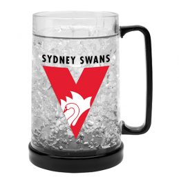LARGE AFL Sydney Swans Aussie Rules Freeze Beer Stein Frosty Mug Cup