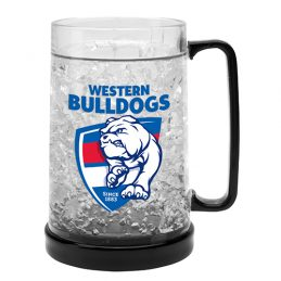 LARGE AFL Western Bulldogs Aussie Rules Freeze Beer Stein Frosty Mug Cup