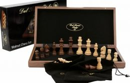 """Quality DAL ROSSI Wooden Chess Set 15"""" Family Board Game"""