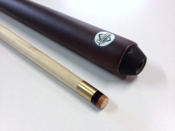 MAPLE WOODEN POOL SNOOKER BILLIARD CUE SET 2x Two Piece Cues 11mm Screw Tips
