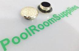 Pool Table Buttons FANCY GOLD Plastic (price is each)