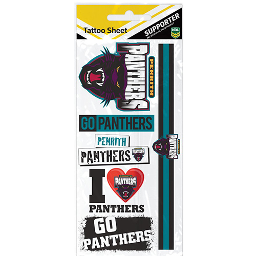 Penrith Panthers NRL Temporary TATTOO Sheet