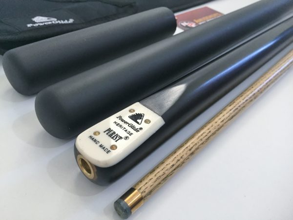 Powerglide Heritage Purist 3/4 Ash Pool Snooker Billiard Cue + Extension Soft Case