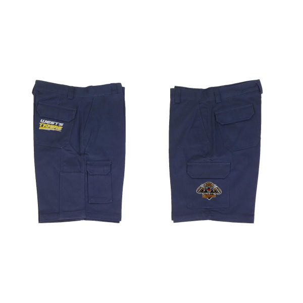 Wests Tigers NRL Cargo Work Shorts: Navy