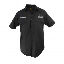 Penrith Panthers NRL Short Sleeve Button Work Shirt: BLACK