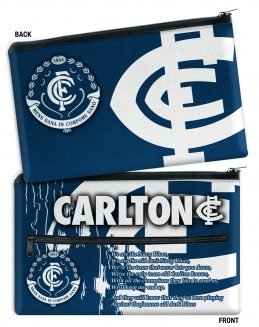 AFL Carlton Blues QUALITY LARGE Pencil Case for School Work Stationary