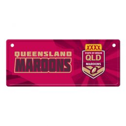 State of Origin QLD Queensland Maroons LICENCE TIN PLATE SIGN