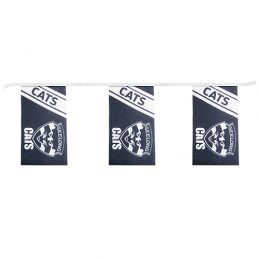AFL Geelong Cats Bunting hanging Flag Banner 5m long with 12 flags