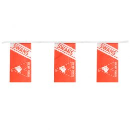 AFL SYDNEY SWANS BUNTING FLAG Bunting hanging Flag Banner 5m long with 12 flags