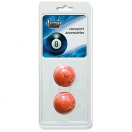 RED Pool Snooker Billiard Cue/Table Chalk Holder Rubber Holder VALUE PACK OF 2