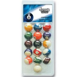"""Pack of Recreational Pool BALLS 2"""" inch Set of 16 includes 2"""" White Cue Ball"""
