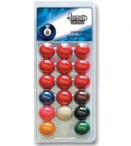 """Pack of Recreational Snooker BALLS 2"""" inch Set of 17 includes 2"""" White Cue Ball"""