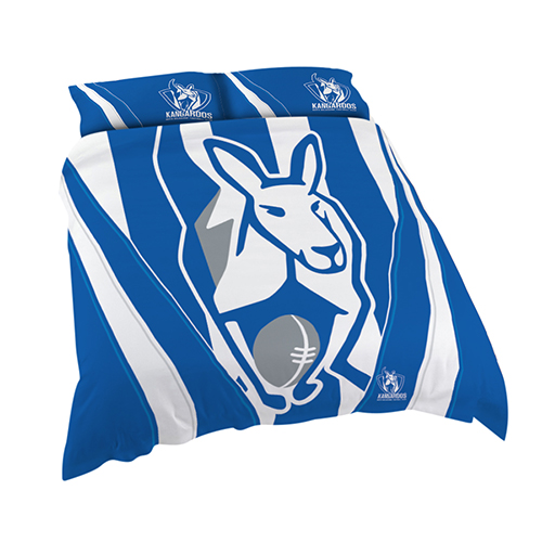 North Melbourne Kangaroos AFL DOUBLE Bed Quilt Doona Duvet Cover & Pillow Cases Set *NEW*