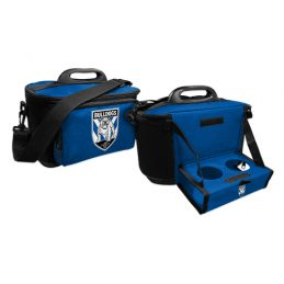 CANTERBURY BULLDOGS NRL DRINK COOLER ESKY CARRY BAG WITH DRINK TRAY/TABLE