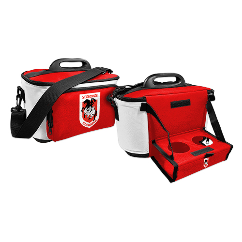 ST GEORGE ILLAWARRA DRAGONS NRL DRINK COOLER ESKY CARRY BAG WITH DRINK TRAY/TABLE