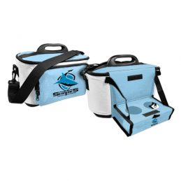 CRONULLA SHARKS NRL DRINK COOLER ESKY CARRY BAG WITH DRINK TRAY/TABLE