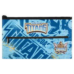 NRL Gold Coast Titans QUALITY LARGE Pencil Case for School Work Stationary