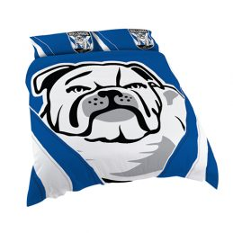 Canterbury Bulldogs NRL DOUBLE Bed Quilt Doona Duvet Cover & Pillow Cases Set *NEW*