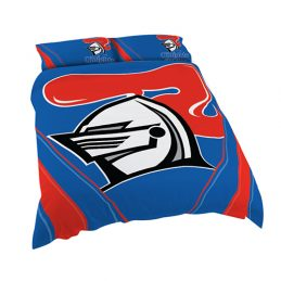 Newcastle Knights NRL KING Bed Quilt Doona Duvet Cover & Pillow Cases Set *NEW*