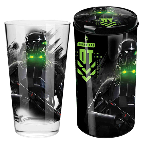 STAR WARS Collector Glass in Tin Rogue Death Trooper design