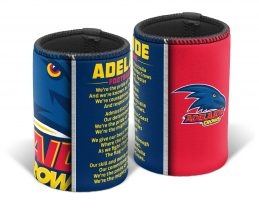 Adelaide Crows AFL TEAM SONG Beer Can Bottle Cooler Stubby Holder Cosy