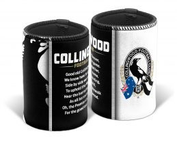Collingwood Magpies AFL TEAM SONG Beer Can Bottle Cooler Stubby Holder Cosy
