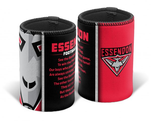 Essendon Bombers AFL TEAM SONG Beer Can Bottle Cooler Stubby Holder Cosy