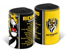 Richmond Tigers AFL TEAM SONG Beer Can Bottle Cooler Stubby Holder Cosy