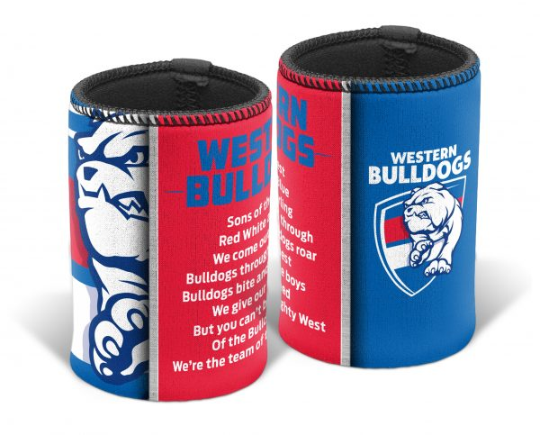 Western Bulldogs AFL TEAM SONG Beer Can Bottle Cooler Stubby Holder Cosy