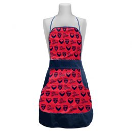 Melbourne Demons AFL Retro Ladies Apron Mothers Day Gift Kitchen Cooking BBQ