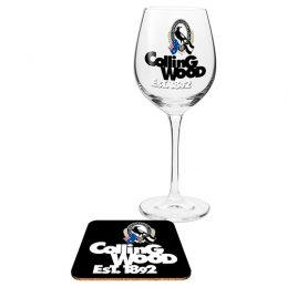 Collingwood Magpies AFL WINE Glass and Coaster Gift Set