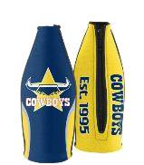 North QLD Queensland Cowboys TALLIE LONG NECK Beer Wine Bottle Zip Cooler (includes Carry Strap)