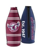 Manly Warringah Sea Eagles TALLIE LONG NECK Beer Wine Bottle Zip Cooler (includes Carry Strap)
