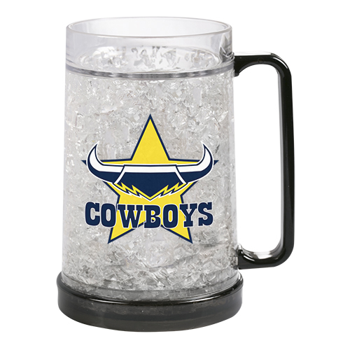 North QLD Queensland Cowboys NRL Freeze Beer Stein Frosty Mug Cup