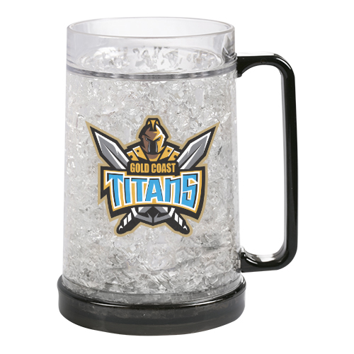 Gold Coast Titans NRL Freeze Beer Stein Frosty Mug Cup