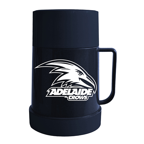 Adelaide Crows AFL Thermos Flask with Lid to as use Mug Cup Man Cave Work Gift