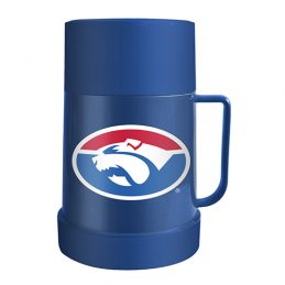 Western Bulldogs AFL Thermos Flask with Lid to as use Mug Cup Man Cave Work Gift