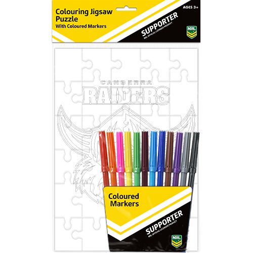 Canberra Raiders NRL Puzzle & Texter/Marker Set