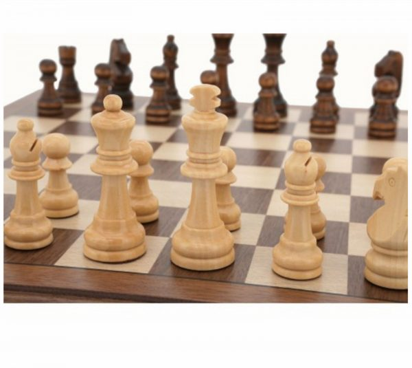 """Quality DAL ROSSI Wooden Chess Set 12"""" Family Board Game"""