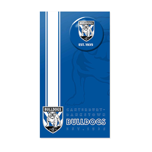 Canterbury Bulldogs NRL GIFT Card with Badge (Birthday, Christmas, Mothers day, Fathers Day)