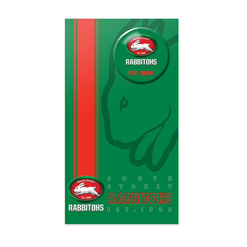 South Sydney Rabbitohs NRL GIFT Card with Badge (Birthday, Christmas, Mothers day, Fathers Day)
