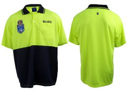 State of Origin NSW New South Wales Blues NRL Short Sleeve HI VIS Polo Work
