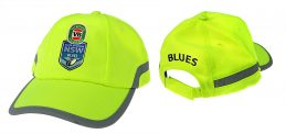 State of Origin NSW New South Wales Blues High Vis Work Safety Hat/Cap