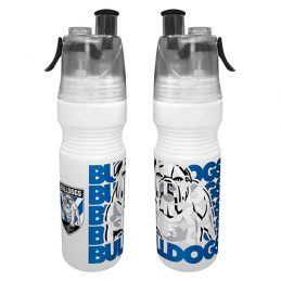 Canterbury Bulldogs NRL Misting Drink Bottle & Water Mister