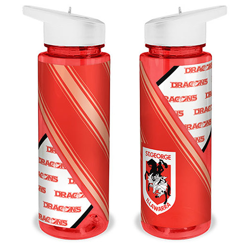 St George Illawarra Dragons NRL SPORTS Drink Bottle Plastic Sipper Top, Straw & Removable Lid