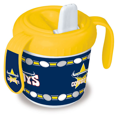 North QLD Queensland Cowboys NRL Sipper 250ml Training Cup with 2 easy grip Handles